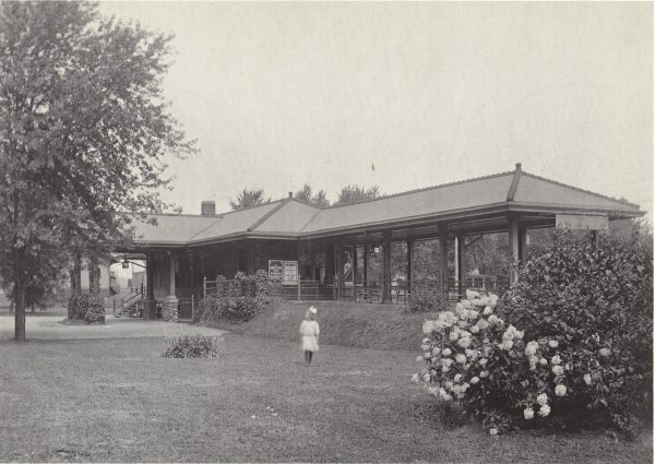 The second Upper Montclair train station, pictured here in 1910