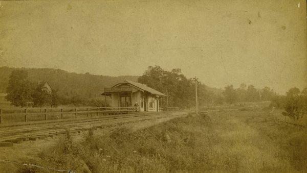 The original Upper Montclair train station, circa 1890