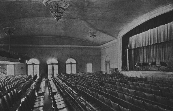 Woman's Club of Upper Montclair auditorium, circa 1937